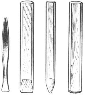 Дерев`яні інструменти для карбованих робіт