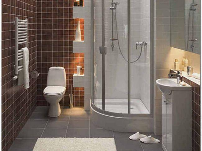 Інтер`єр ванної кімнати суміщеного типу.