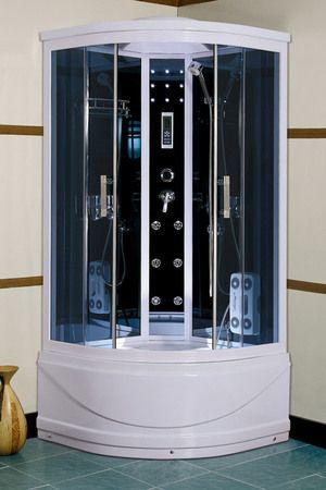 Моноблочні душові кабіни можуть бути з додатковими функціями.