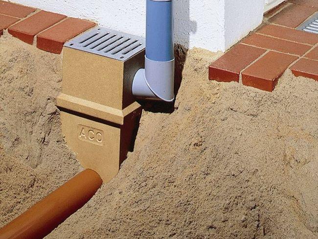 Пристрій зливової каналізації