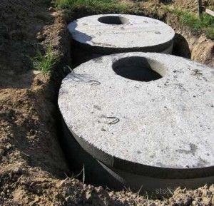 Двокамерна зливна яма з бетонних кілець