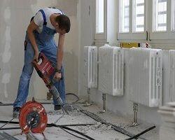 Процес установки радіаторів
