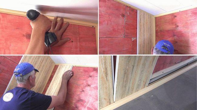 Монтаж ПВХ панелей на стіни