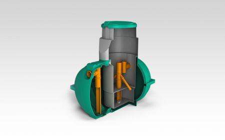 Схема роботи септика Росток