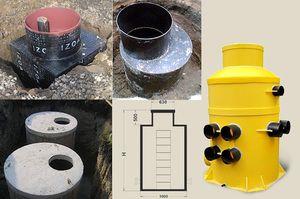 Кесони з різних матеріалів, пластик, сталь або бетон.