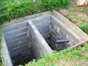 Приклад зливної ями для лазні