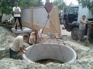 монтаж зливної ями