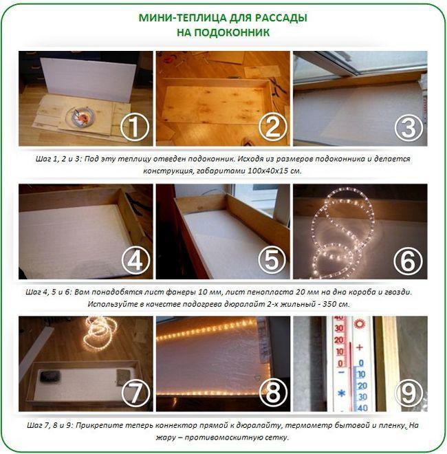 Як зробити міні-теплицю для підвіконня
